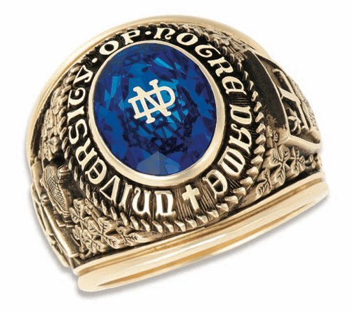 University Of Notre Dame Class Ring
