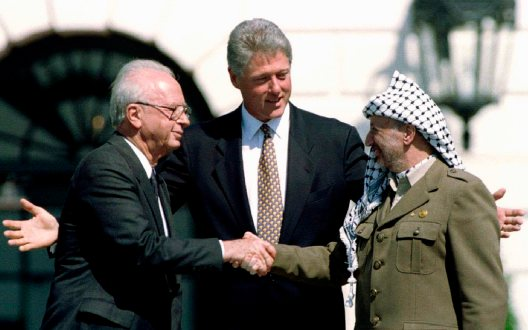 The iconic image of peace in the Middle East from my youth.